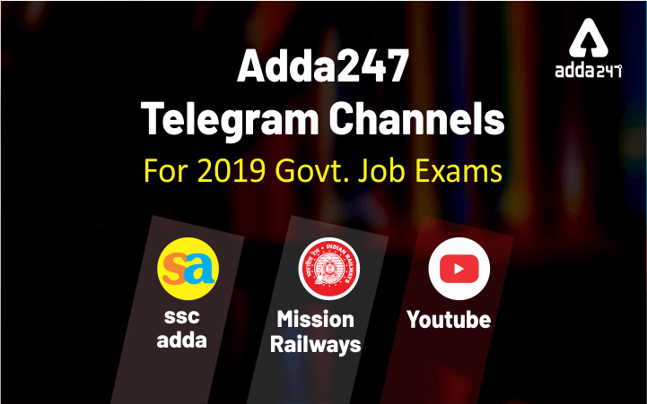 Adda247 Telegram Channels For 2019 Govt  Job Exams