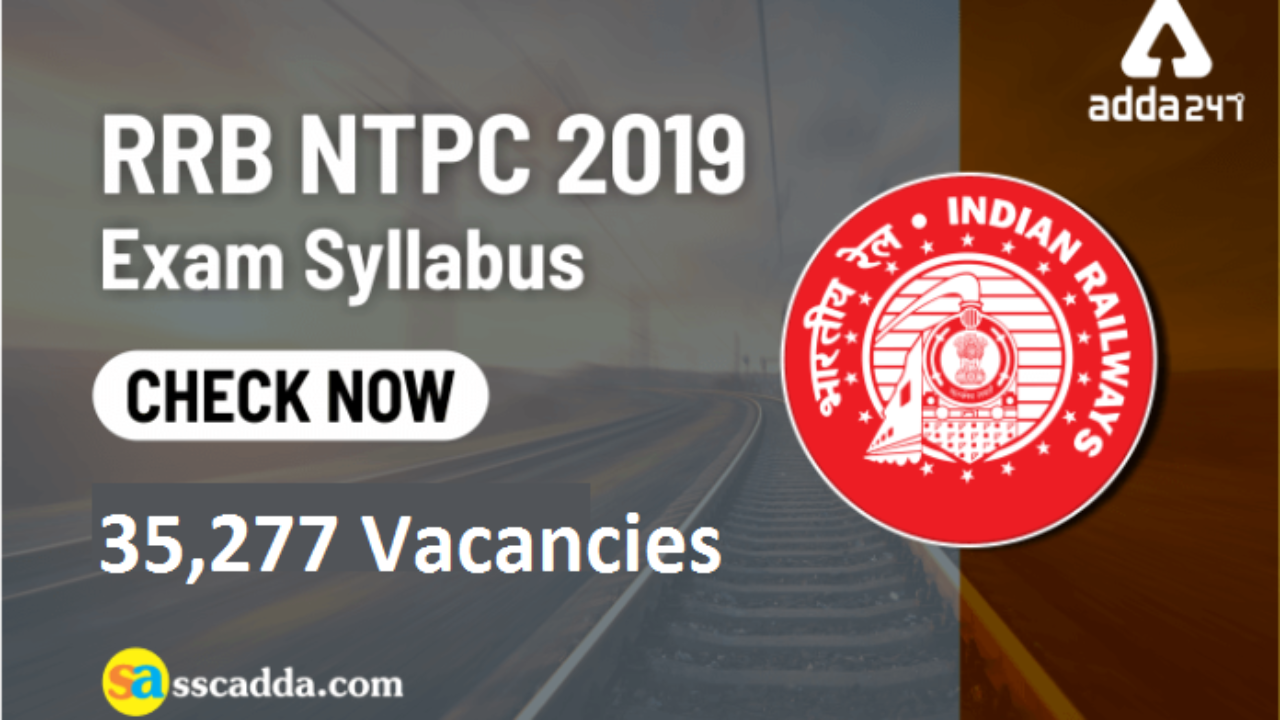 RRB NTPC Syllabus 2019 - Stage I & Stage II Syllabus