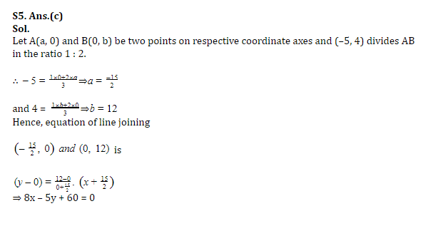SSC CGL Mains Co-ordinate Geometry Questions : 3rd July_130.1