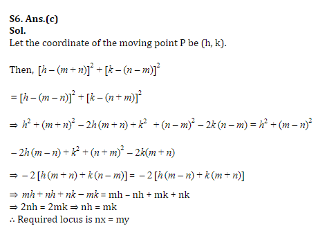 SSC CGL Mains Co-ordinate Geometry Questions : 3rd July_140.1
