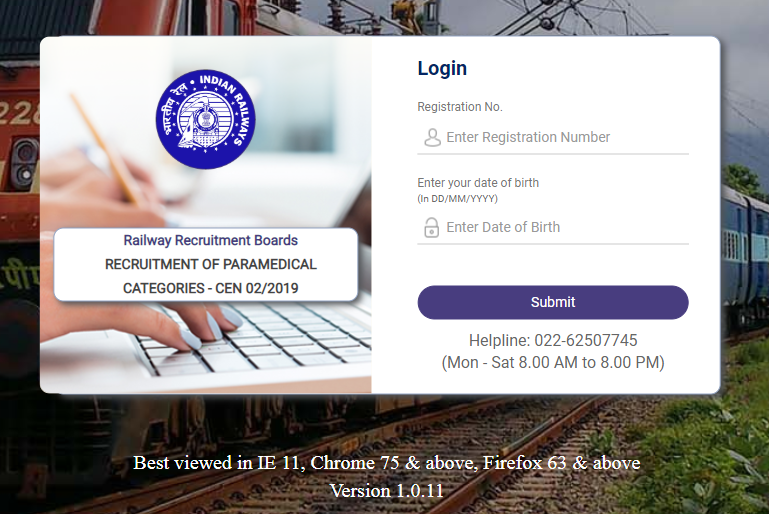RRB Paramedical Admit Card 2019 Out : Download Now_50.1