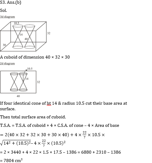 SSC CGL Mains Mensuration Questions : 9th July_70.1