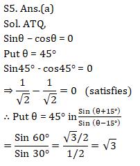 SSC CGL Mains Trigonometry Questions : 4th September_130.1