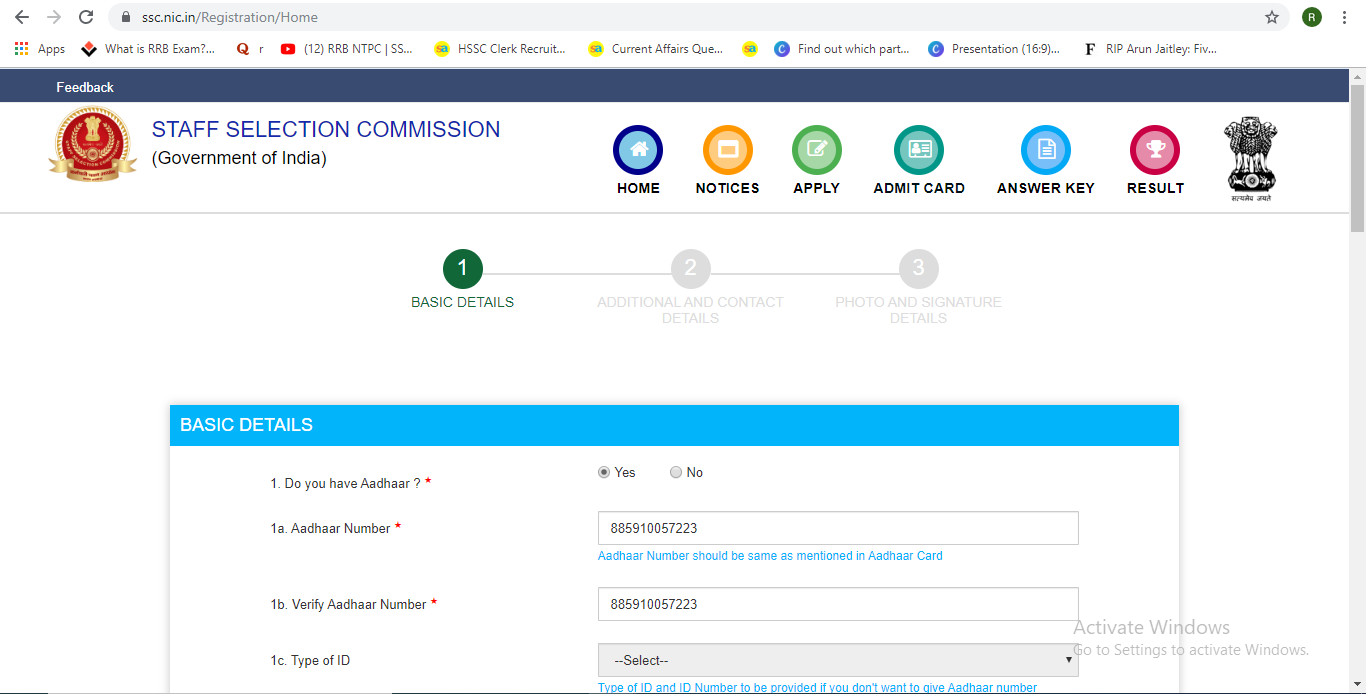 SSC CGL Apply Online 2019: Check Steps to Steps Apply Online_60.1