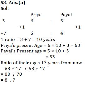 Quantitative Aptitude Quiz for SSC CHSL 29th January 2020 For Ratio & Proportion , Age, Partnership_80.1