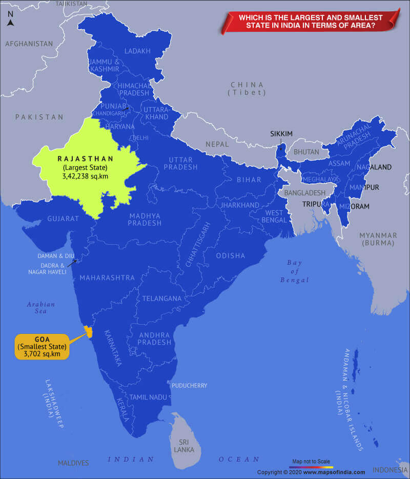 भारत का सबसे बड़ा राज्य – यहाँ देखें क्षेत्रफल और जनसंख्या के आधार पर सभी राज्यों की सूची(Largest State in India: Check largest state in India by Area and population)_60.1