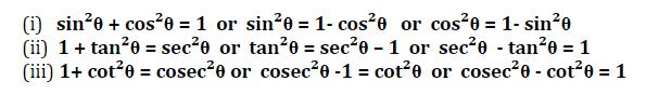 त्रिकोणमिति के नोट्स : जानिए त्रिकोणमिति के सूत्र, ट्रिक्स और इसपर आधारित प्रश्नों के हल करने की प्रक्रिया_110.1