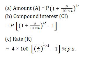 यहाँ देखें चक्रवृद्धि ब्याज के सूत्र, ट्रिक और उसपर आधारित प्रश्न_70.1