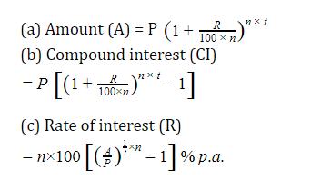 यहाँ देखें चक्रवृद्धि ब्याज के सूत्र, ट्रिक और उसपर आधारित प्रश्न_80.1
