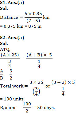 Mathematics Quiz For RRB NTPC : 17th January 2020 for Time & distance, Time & work and Interest_50.1